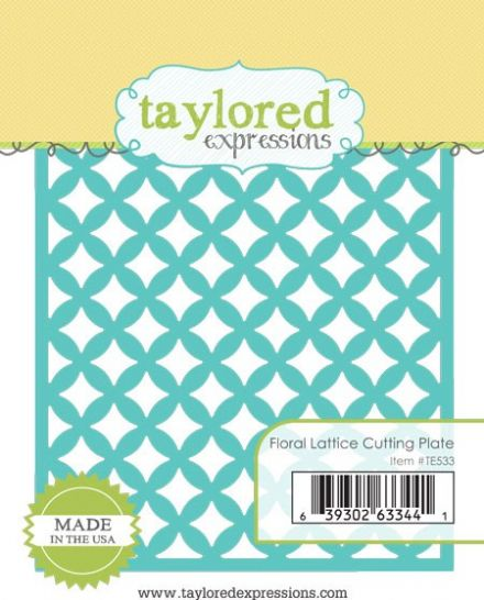 TE533 ~ FLORAL LATTICE CUTTING PLATE ~ dies by Taylored Expressions